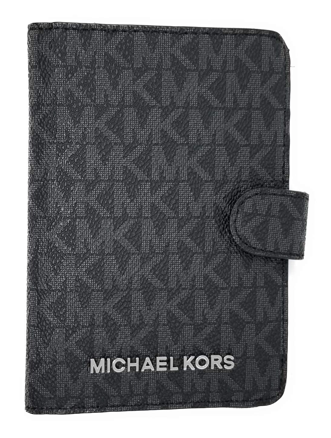 Michael Kors Jet Set Travel Passport Case Wallet (Black PVC 2018) by Michael Kors (Image #1)