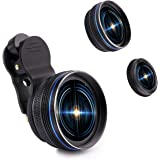 Cell Phone Camera Lens, YACYA 2 in 1 Clip-on Lens Kit 0.45X Super Wide Angle & 15X Macro Phone Camera Lens for iPhone X/8/7/6/6s Plus SE Samsung HTC Google Huawei LG Ipad Tablet