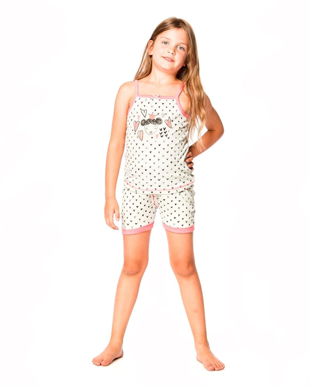 Deux par Deux Girls Shorts Pyjamas Set with Hearts Sizes 2-12