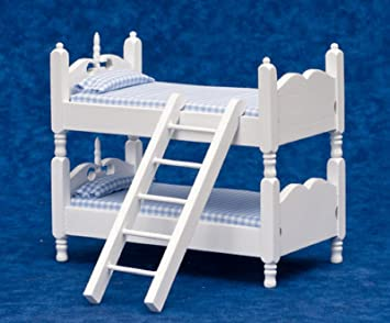 Etagenbett Für Puppenhaus : Puppenhaus möbel weißes holz blau gingham etagenbett betten