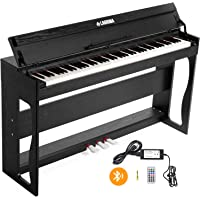 LAGRIMA 88 Key Weighted Digital Piano w/Bluetooth&MP3 Function, USB/MIDI/Headphone/Mic/Audio Output Feature, Suit for Kids, Teen, Adult, Beginner or Training Institution