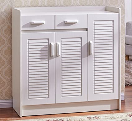 GLJ Ultra Thin Shoe Cabinet Entrance Cabinet Simple Modern Solid Wood Hall Cabinet  Shoe Rack