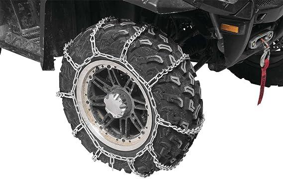 New PAIR 2 Link TIRE CHAINS 18x8.5x10 fits many Polaris Sportsman Scrambler ATV