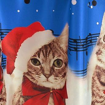 Damska-Kleid, niedlich, gestreift, Weihnachtsmann, Schneeflocke, langärmelig, Saum, Swing Mid, Kostüm: Odzież