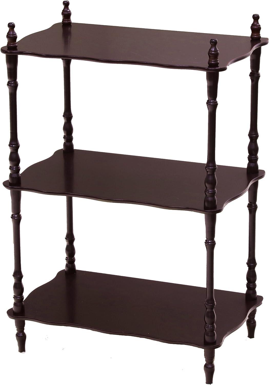 Frenchi Furniture Rectangular 3 Tier Shelf in Cherry Finish