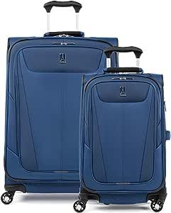 Destinations 21 Hardside Spinner and Satchel Luggage 2-Piece Set Navy