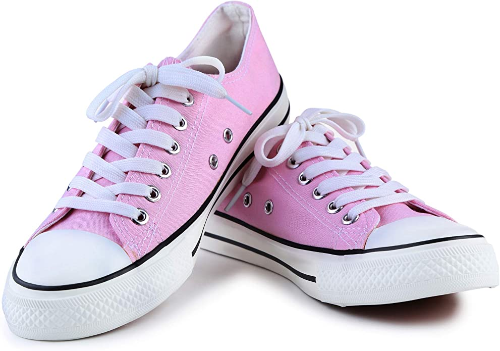 Retro Sneakers, Vintage Tennis Shoes KE DI Leather USA Womens All Star Style S-3 Canvas Shoes for Women Low Top Casual Lace up Fashion Running Walking Yoga Sneaker $22.99 AT vintagedancer.com