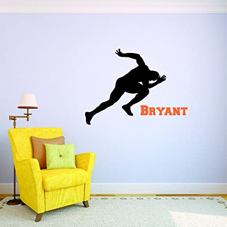 Amazoncom PERSONALIZED Custom Name Runner Track And Field Sports - Custom vinyl wall decal equipment