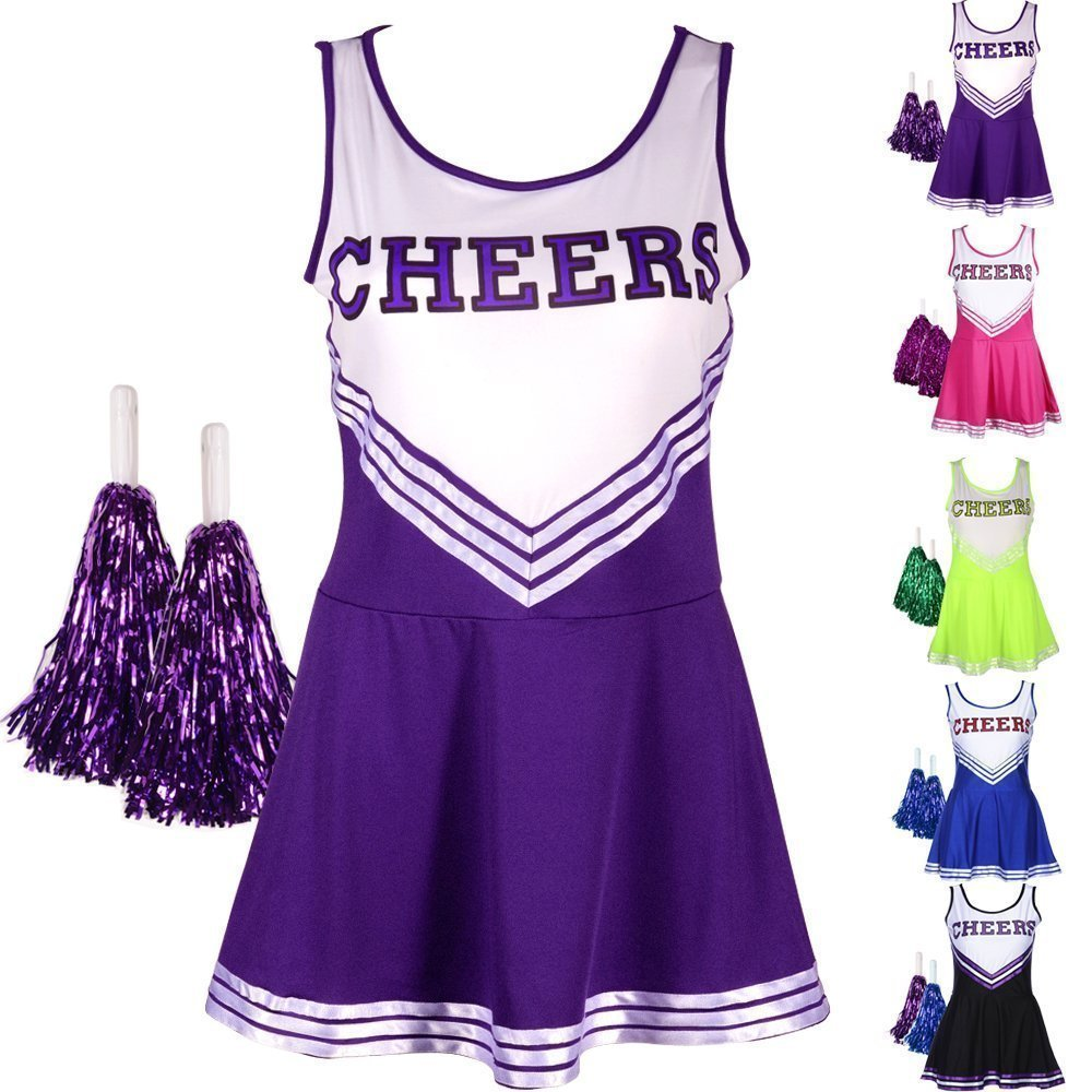 Damen Madchen Cheerleader Kostum Uniform Karneval Fasching Party