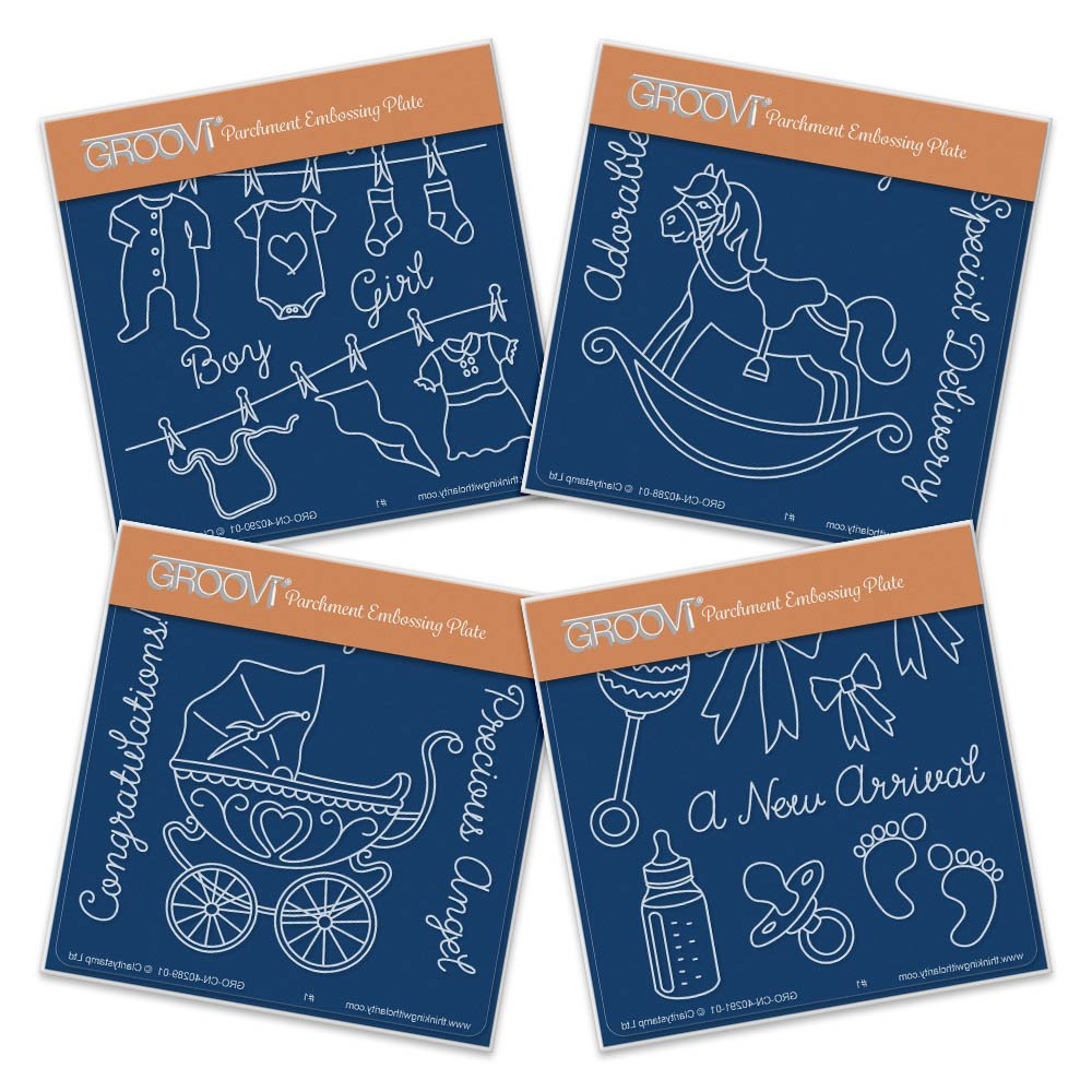 Groovi Baby Plates A6 Square - New Arrival (Set of 4) Claritystamp
