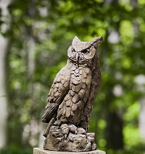 Campania International A-337-BR Horned Owl Statue