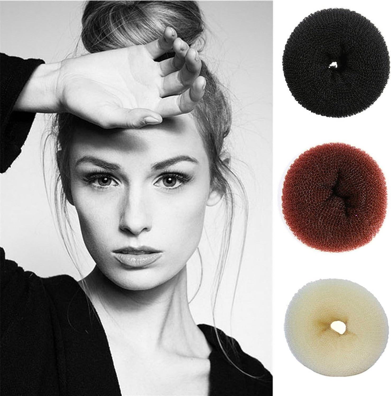 J J Store Pack Of 2 Children Kids Girls Ballet Dance Hair Bun Donut Ring Shaper Hair Styler Maker Doughnut Former Sponge Black Amazon Co Uk Beauty