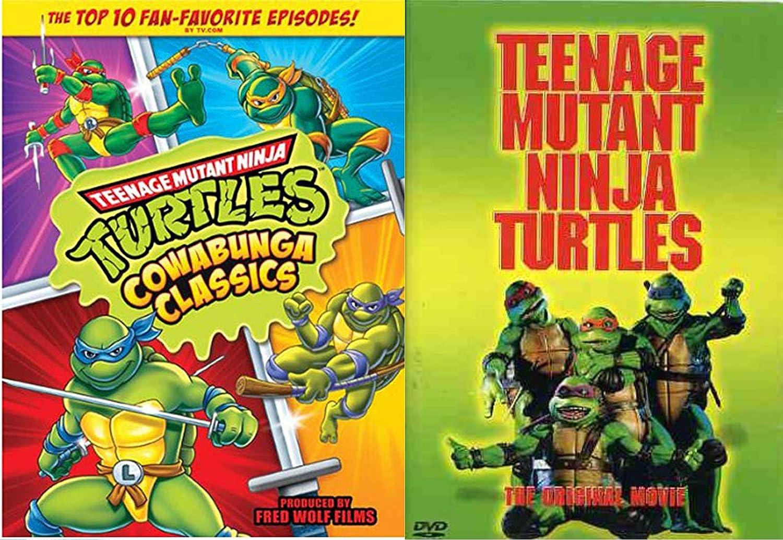 Original Green Teens Half Shell Heroes Teenage Mutant Ninja Turtles: 10 Episode Cartoon TMNT DVD & Movie Double Pack Leo / Donnatello / Mickey & Ralph