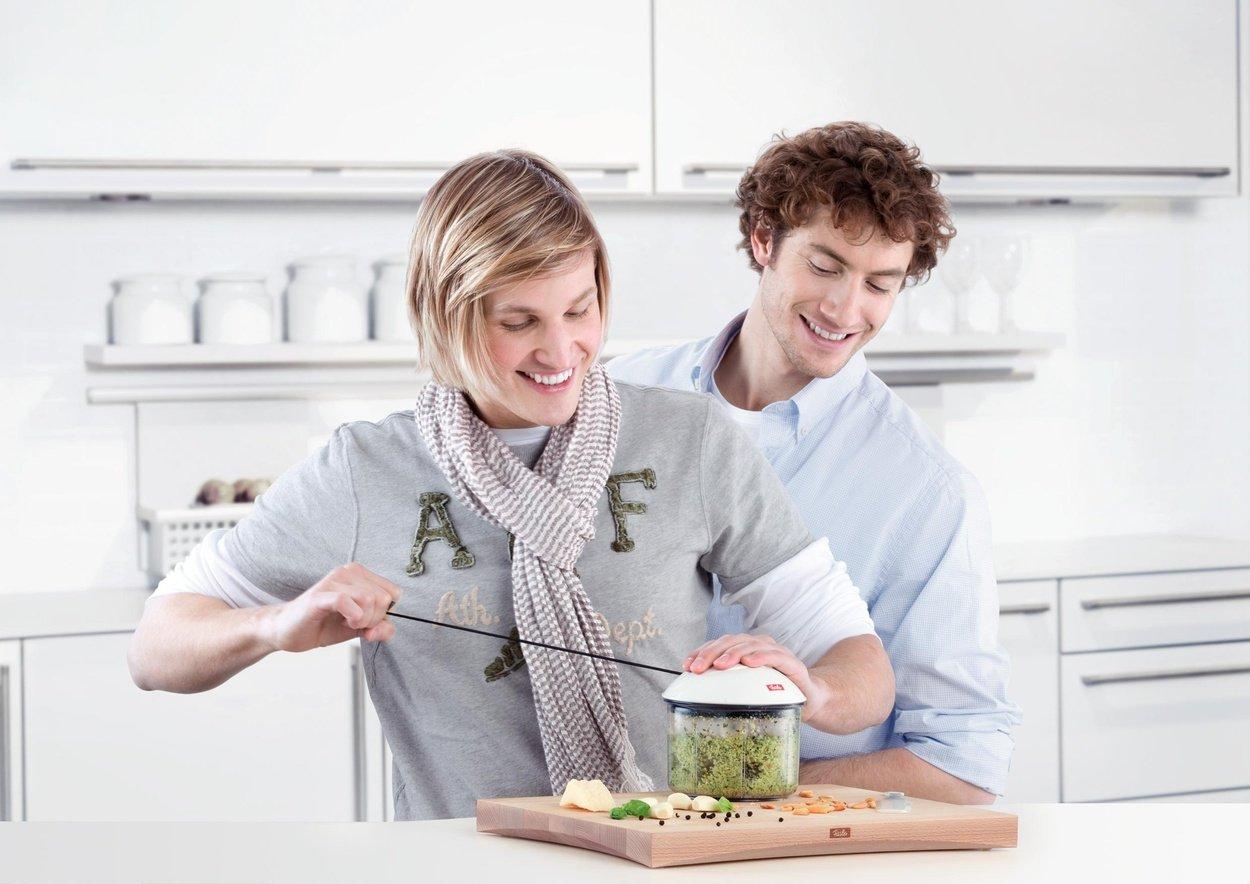 Pl/ástico y PVC Blanco 13.5 cm Fissler Finecut Picadora Fruta y Verdura