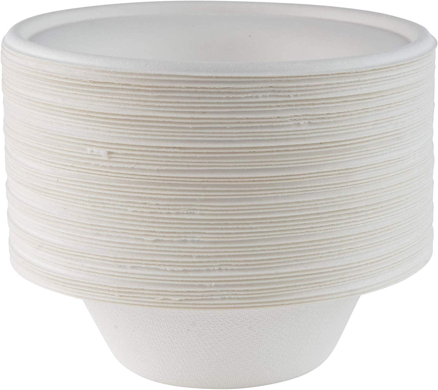 WhopperIndia Disposable Bowl 5 oz, Natural Compostable Biodegradable Sugarcane Paper Soup Bowls, Eco-Friendly, Microwavable and Leakproof Tableware for Hot and Cold Foods 50 Pcs