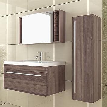 Waschplatz Lösung Becken mit Unterschrank & Hochschrank ...