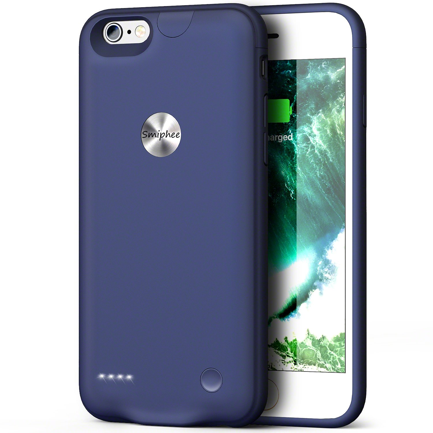iPhone 6 6s Battery Case, Smiphee 2500mAh Portable Charging Case iPhone 6 6s(4.7 inch) Extended Charger Case ( Blue ) ZZ-BC-002