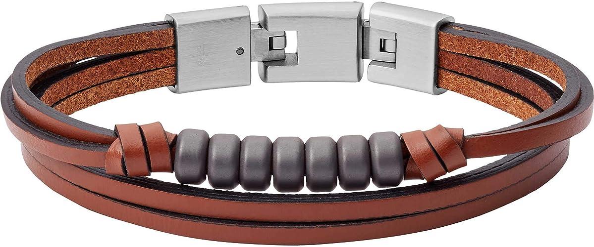 Fossil Homme Acier Bracelets multi-rangs JF03131040