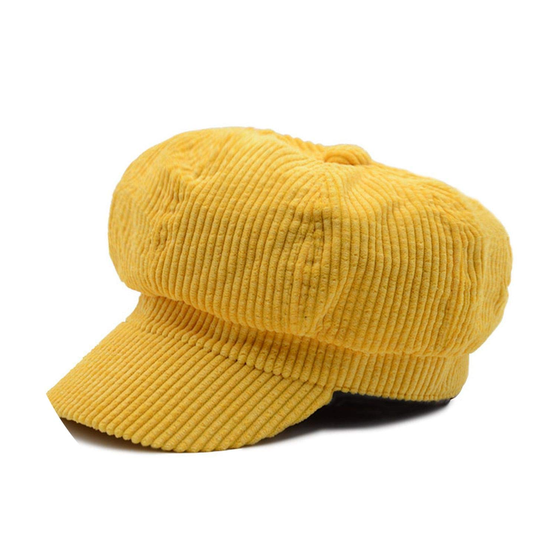 Newsboy Cap Beret Hat Vintage Thick Warm Beret Style Artist Painter Cap Corduroy