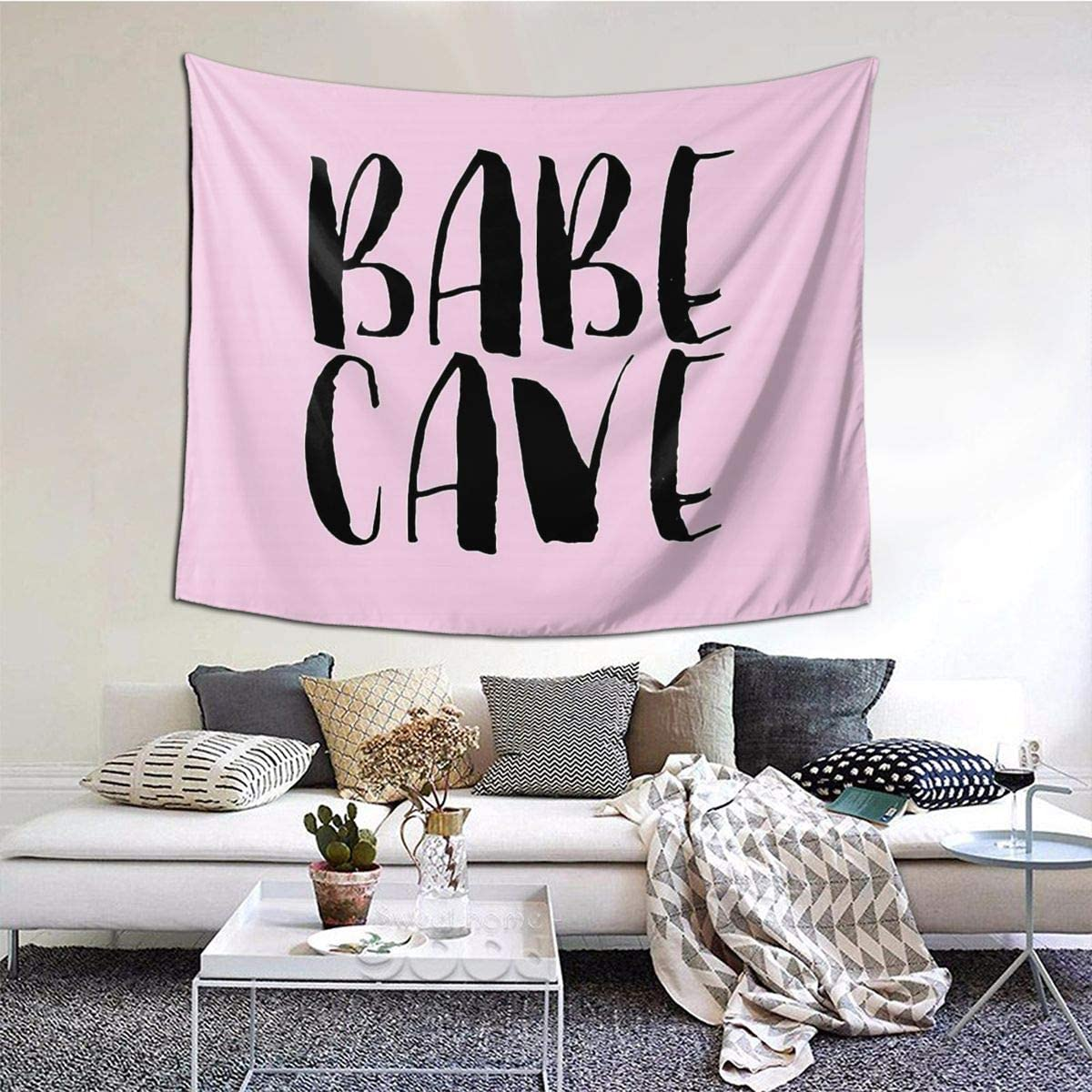 MOONSOON Babe Cave Boutique Tapestry Wall Hanging Tapestry Vintage Tapestry Wall Tapestry Micro Fiber Peach Home Decor 59.1x51.2 in