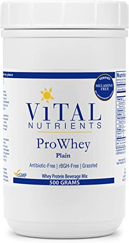 Vital Nutrients – ProWhey – Whey Protein Beverage Mix – Plain – 500 Grams per Bottle