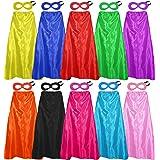 D.Q.Z Superhero Capes and Masks for Adults Bulk Men Women Super Hero Halloween Dress Up Costume Party Favors,10 Pack
