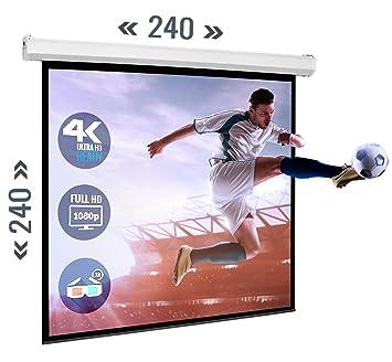 ULTRALUXX Pantallas motorizadas para proyector de cine en casa ...