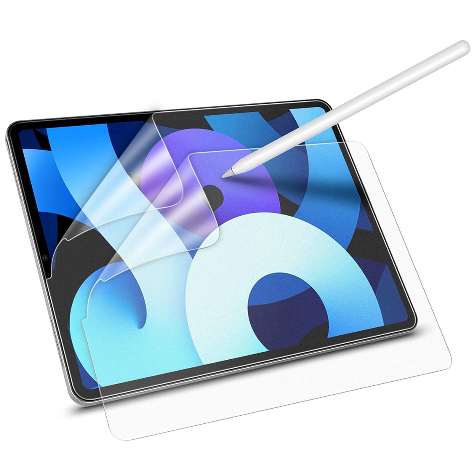 MoKo 2 Pack Like Paper Screen Protector Fit iPad Air 4th Generation 2020 New iPad 10.9 in 2020 Anti-Scratch Anti-Glare Bubble-Free PET Film Support Apple Pencil Matte iPad Pro 11 2018//2020