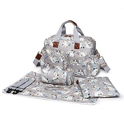Miss Lulu 4 piezas bebé pañal pañales bolsa de pañales de tela impermeable mate de resistente