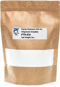 Titanium Dioxide | Cosmetic Grade | Soap Making, Crafts, Paints and Pigment Colorant | Resealable Pouch | PTR-630 16oz 8oz 4oz (8oz/0.5lb)