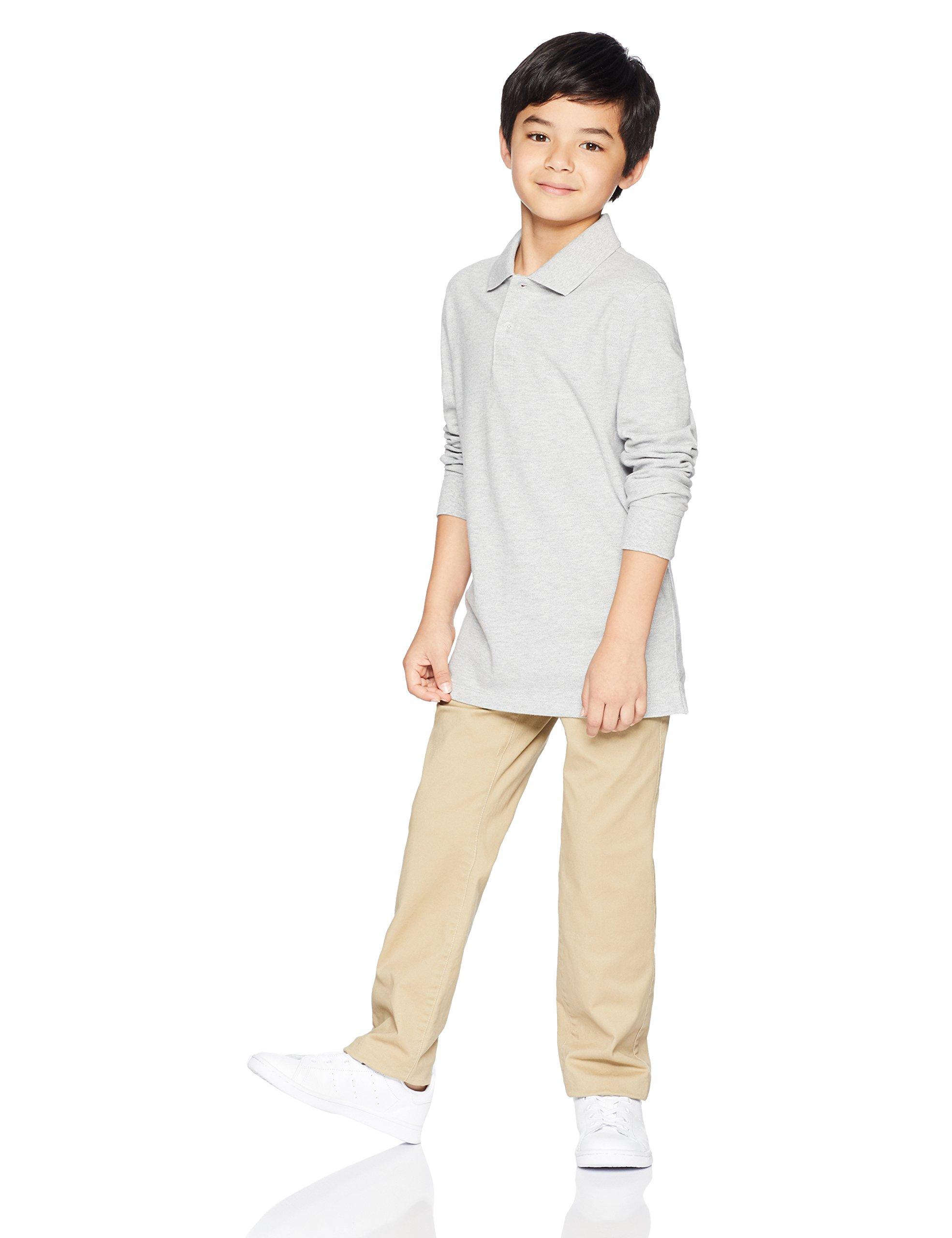 Amazon Essentials Boys' Straight Leg Flat Front Uniform Chino Pant, Khaki,10 by Amazon Essentials (Image #2)