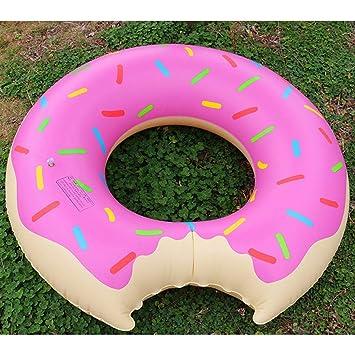 Donut Hinchable Anillo de natación Piscina Gigante Flotador ...