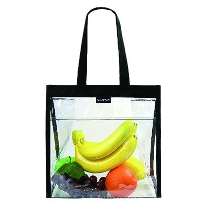 Amazon.com: Bolsas transparentes con bolsillo frontal y asas ...