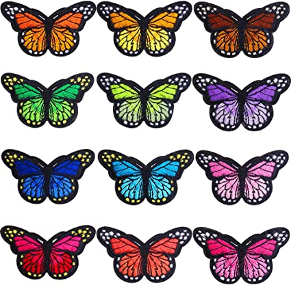 Colourful Butterfly Iron on Applique Patch