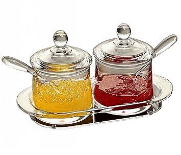 Amazon Com Folobe Premium Quality Clear Acrylic Condiment Set Spice