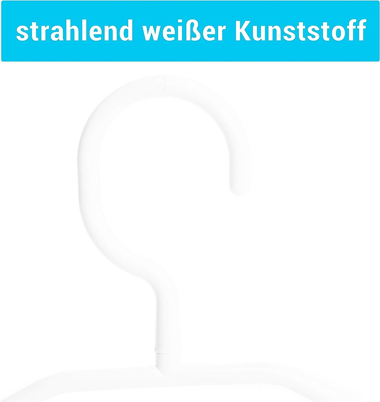 Kleiderb/ügel Centi Kunststoff drehbarer Haken Wei/ß 100 St/ück