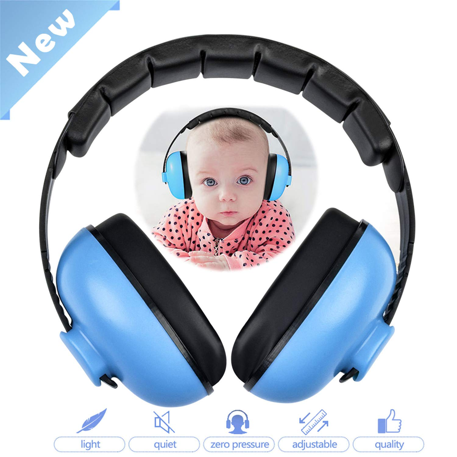 Baby Headphones,Baby Ear Protection,Noise Cancelling Headphones for Kids,Ear Noise Protection for Baby for 0-3 Years Babies,Toddlers,Infant