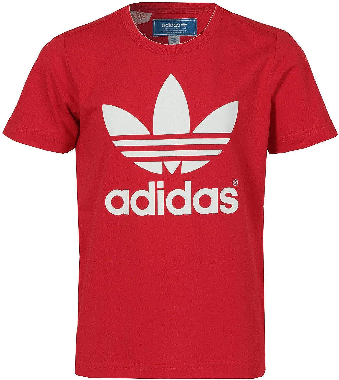 adidas Baby Trefoil Tee – Camiseta rojo, bebé - unisex Bebé niño, rojo, 92: Amazon.es: Deportes y aire libre