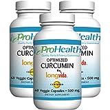 ProHealth Optimized Curcumin Longvida (500 mg - 60 Veg Capsules) - 3 Pack