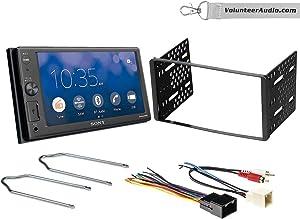 Sony XAV-AX1000 Double Din Radio Install Kit With Apple CarPlay, Sirius XM Ready, NO CD Player Fits 1999-2004 F-150, 2003-2008 E-150, 1998-2012 Ranger