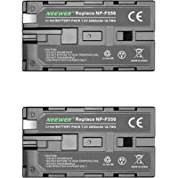 Neewer (2Pack) 2600mAh Sony NP-F550/570/530 Replacement Battery for Sony HandyCams, Neewer Nanguang CN-160,CN-216,CN-126…