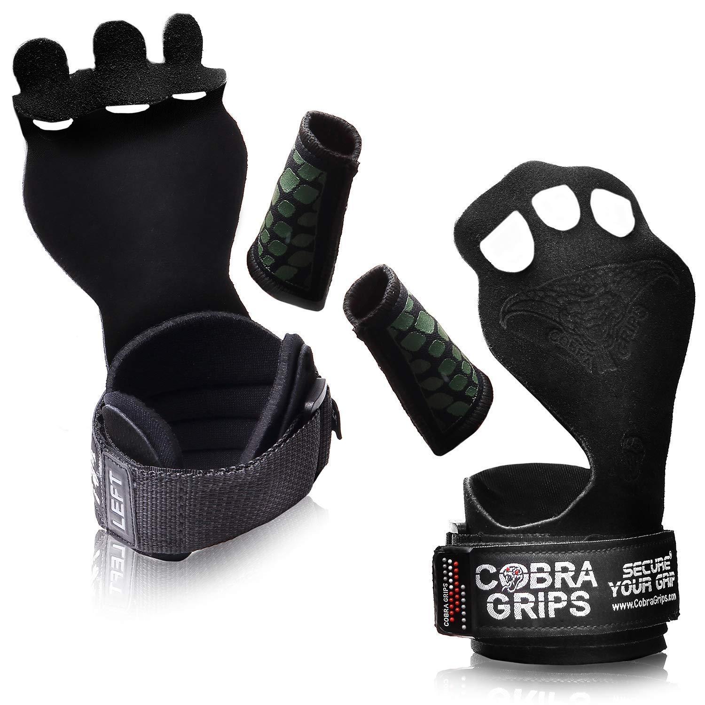 クロストレーニンググリップBest体操グリップKeep Your Hands Freeから水疱& Callouses Pullups Weight Lifting Chin Ups 緑 Nubuck Leather Medium 4.25\