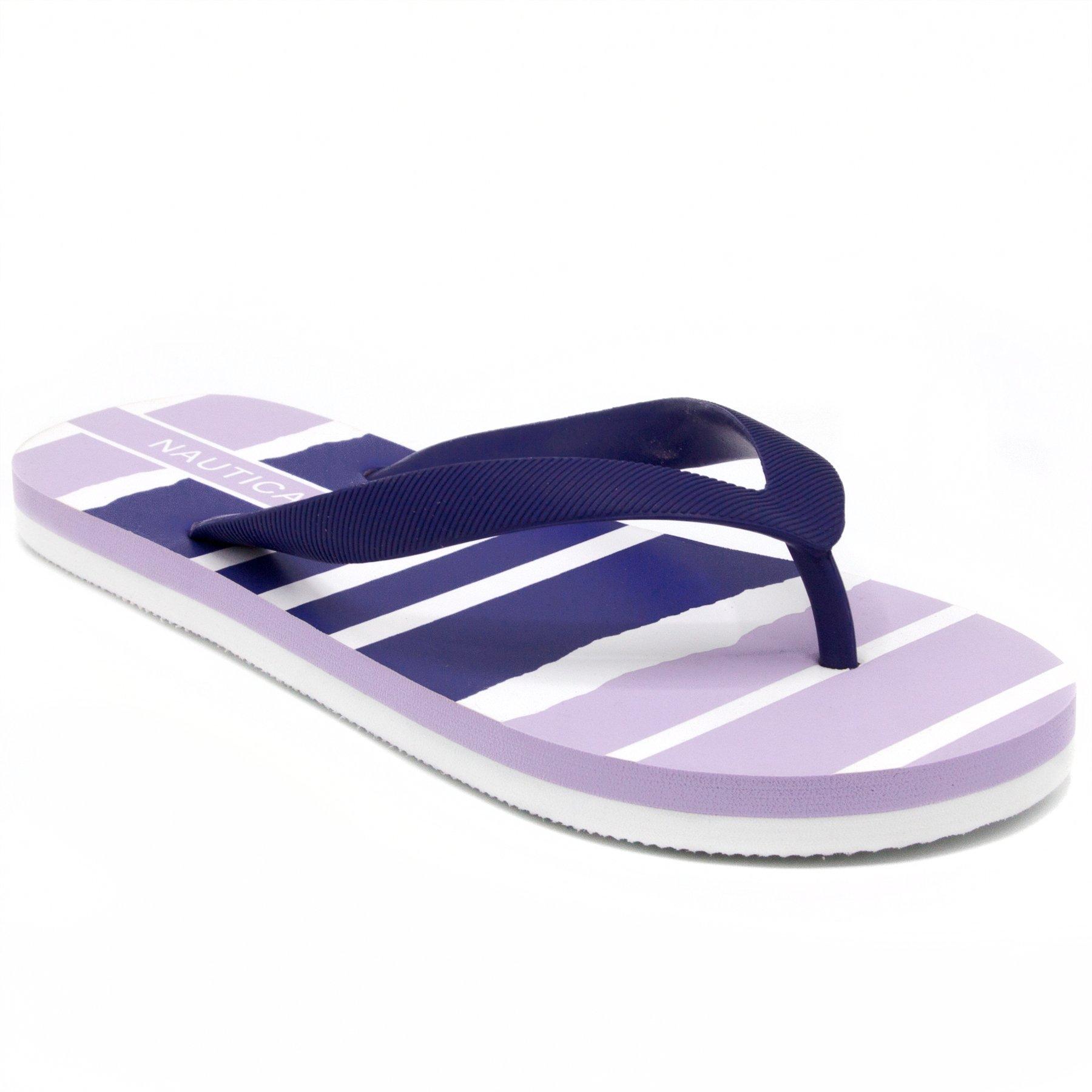 Nautica Women's Pintle Flip Flop, Beach Sandal, Thong Style Boat Slide, Lilac-7