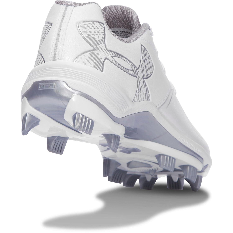 Under Armour Women's Glyde TPU Softball Shoe, Black/Black B01D3RVU6E 9.5 B(M) US White/White