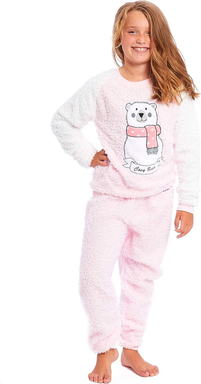 abbinato per mamma e figlia pigiama in due pezzi in pile caldo e accogliente Set pigiama da donna e bambina Habigail