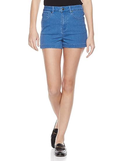 54b31cf6c14 Amazon.com  Lily Parker Women s Basic Classic Denim Shorts Jeans  Clothing