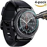 Samsung Gear S3 Schutzfolie, [4 Stück] KIMILAR Gehärtetem Glas Screen Protector für Samsung Gear S3 Smartwatch Ultra High Definition Unsichtbar und Anti-Luftblasen Kristall zu Schützen