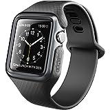Clayco Apple Watch Armband 42mm [Hera] Slim Apple Watch Series 3 Case Stoßfest iWatch Schutzhülle Kratzfest Hülle für Apple Watch 42mm Serie 3/Serie 2/Serie 1 (Schwarz)