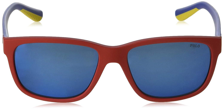 Amazon.com: Gafas de sol Polo PH 4142 573455 mate rojo: Shoes