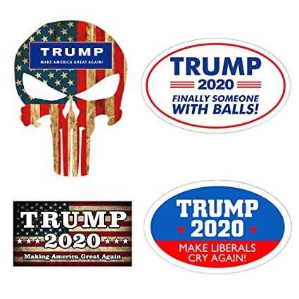 91f9b0c714d Image Unavailable. Image not available for. Color  4Pcs Donald Trump for  President Car Sticker ...